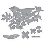 Spellbinders - Flower Garden Collection - Shapeabilities Dies - Bird on Cherry Branch