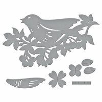 Spellbinders - Flower Garden Collection - Shapeabilities Dies - Bird on Cherry Branch