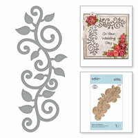Spellbinders - Blooming Garden Collection - Etched Dies - Swirl Leaf Branch