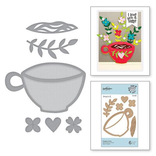 Spellbinders - Cuppa Coffee, Cuppa Tea Collection - D-Lites Die - Cuppa Love