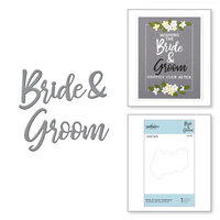 Spellbinders - Wedding Season Collection - D-Lites Die - Etched Dies - Bride and Groom Sentiment