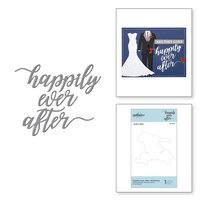 Spellbinders - Wedding Season Collection - D-Lites Die - Etched Dies - Happily Ever After Sentiment