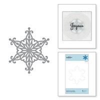 Spellbinders - Sparkling Christmas Collection - D-Lites Die - Etched Dies - Radiant Snowflake