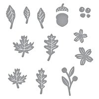 Spellbinders - Fall Traditions Collection - Etched Dies - Mini Fall Blooms