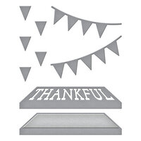 Spellbinders - SB Open House Collection - Etched Dies - Open House Thankful