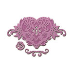 Spellbinders - Shapeabilities Collection - Die - Floral Heart Accent