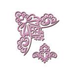 Spellbinders - Shapeabilities Collection - Die - Victorian Bow Corner