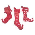 Spellbinders - Holiday Collection - D-Lites Die - Stocking Trio