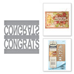 Spellbinders - Celebrate the Day Collection - Shapeabilities Dies - Congrats Pop-Up