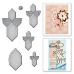 Spellbinders - Vintage Elegance Collection - Dies - Angled Flower Fold 'n Go