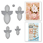 Spellbinders - Vintage Elegance Collection - Dies - Round Flower Fold 'n Go