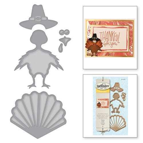 Spellbinders - Holiday Collection - D-Lites Die - Turkey