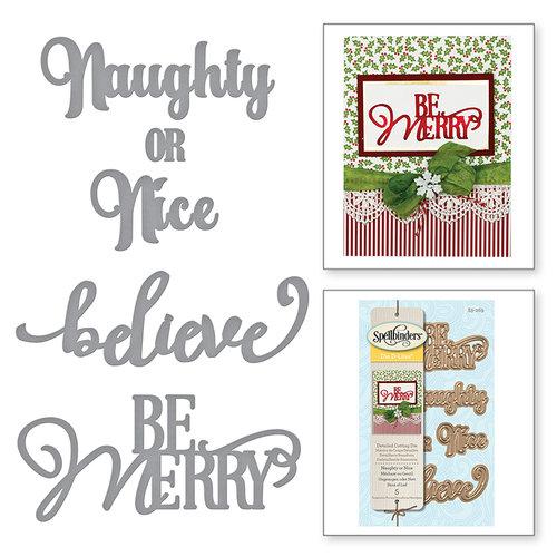 Spellbinders - Holiday Collection - Christmas - D-Lites Die - Naughty or Nice