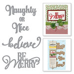 Spellbinders - Holiday Collection - Christmas - D-Lites Die - Naughty or Nice