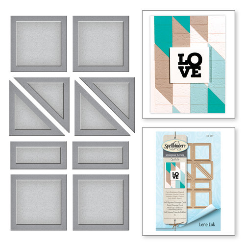 Spellbinders - Quilt-It Collection - D-Lites Die - Half Square Triangle