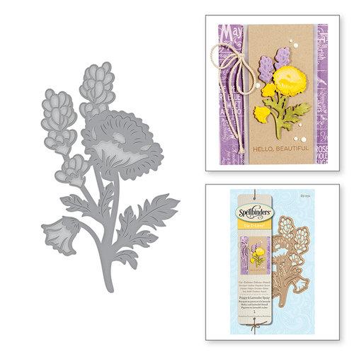 Spellbinders - D-Lites Die - Poppy and Lavender Spray