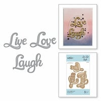 Spellbinders - On the Wings of Love Collection - Etched Dies - Live Love Laugh
