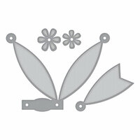 Spellbinders - Elegant 3D Cards Collection - Etched Dies - Petite Double Bow and Flowers