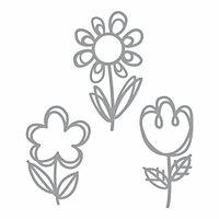 Spellbinders - D-Lites Die - Sketched Blooms