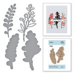 Spellbinders - Good Vibes Only Collection - Etched Dies - Heart like a Wildflower