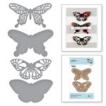 Spellbinders - Good Vibes Only Collection - Etched Dies - Wandering Butterflies