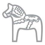 Spellbinders - Folk Art Collection - Shapeabilities Dies - Dala Horse