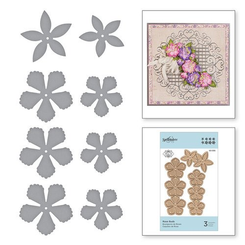 Spellbinders - Blooming Garden Collection - Etched Dies - Rose Buds