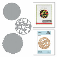 Spellbinders - A Sweet Christmas Collection - D-Lites Die - Mistletoe Doily