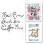 Spellbinders - Cuppa Coffee, Cuppa Tea Collection - D-Lites Die - But First Coffee
