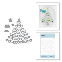 Spellbinders - Sparkling Christmas Collection - D-Lites Die - Etched Dies - Joyful Christmas Tree