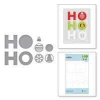 Spellbinders - Sparkling Christmas Collection - D-Lites Die - Etched Dies - Jolly Ho Ho Ho