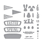 Spellbinders - Expressions of Spring Collection - Etched Dies - Hoppy Sunday Drive