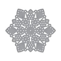 Spellbinders - Merry Stitchmas Collection - Christmas - Etched Dies - Sparkling Mandala