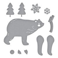 Spellbinders - Be Merry Collection - Christmas - Etched Dies - Chill Bear