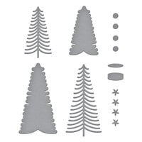 Spellbinders - Tis The Season Collection - Christmas - Etched Dies - Bottle Brush Trees