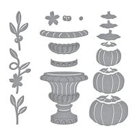 Spellbinders - SB Open House Collection - Etched Dies - Open House Pumpkin Topiary
