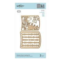 Spellbinders - Christmas - 3D Holiday Vignettes Collection - Etched Dies - Reindeer Prance Layering Set