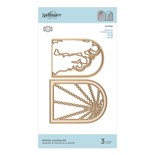 Spellbinders - Christmas - 3D Holiday Vignettes Collection - Etched Dies - Nativity Layering Set