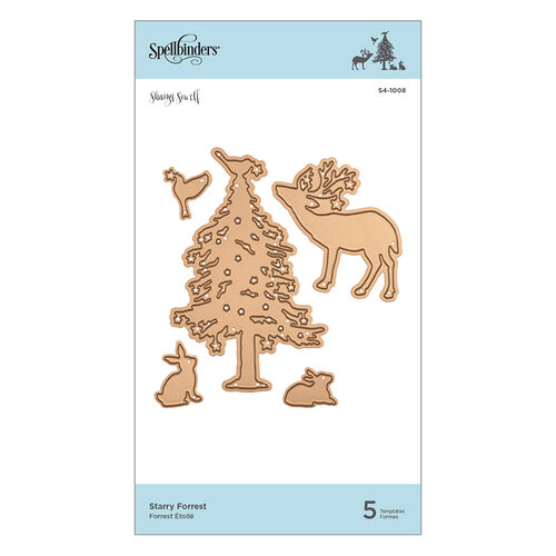 Spellbinders - Holiday Traditions Collection - Shapeabilities Die - Starry Forrest