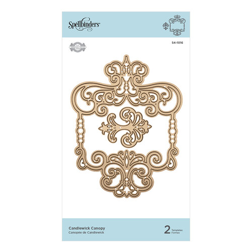 Spellbinders - Candlewick Sampler Collection - Etched Dies - Canopy