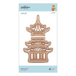 Spellbinders - Destination Japan Collection - Etched Dies - Pagoda Card
