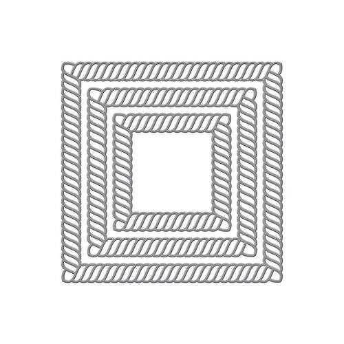 Spellbinders - Elegant Twist Collection - Etched Dies - Squares