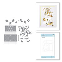 Spellbinders - Wedding Season Collection - Etched Dies - Mr and Mrs Wedding Cake