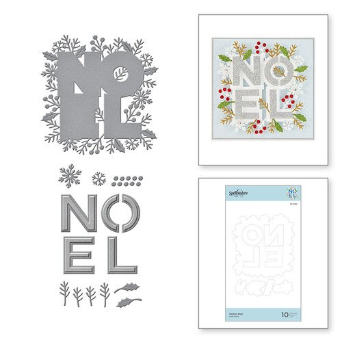 Spellbinders - Sparkling Christmas Collection - Etched Dies - Festive Noel