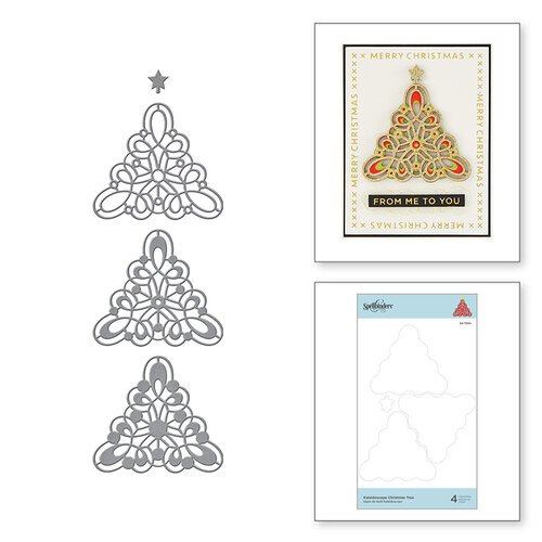 Spellbinders - Sparkling Christmas Collection - Etched Dies - Kaleidoscope Christmas Tree