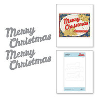 Spellbinders - Sparkling Christmas Collection - Etched Dies - Bold Type Merry Christmas