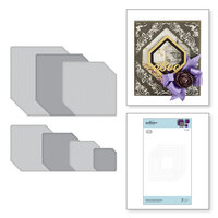 Spellbinders - Nestabilities Collection - Etched Dies - Clipped Squares
