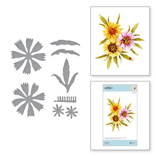 Spellbinders - Susan's Autumn Flora Collection - Etched Dies - Coreopsis