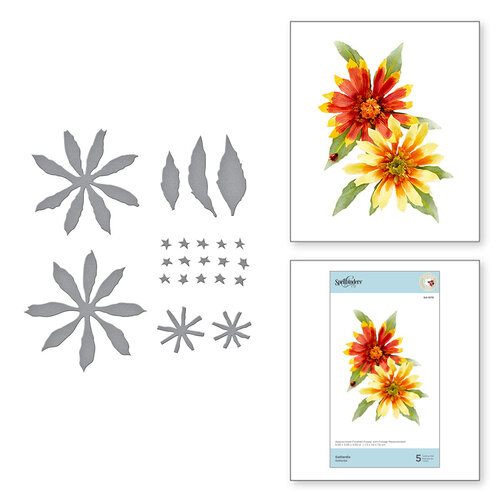 Spellbinders - Susan's Autumn Flora Collection - Etched Dies - Gaillardia