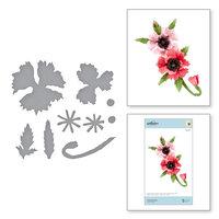 Spellbinders - Susan's Autumn Flora Collection - Etched Dies - Oriental Poppy
